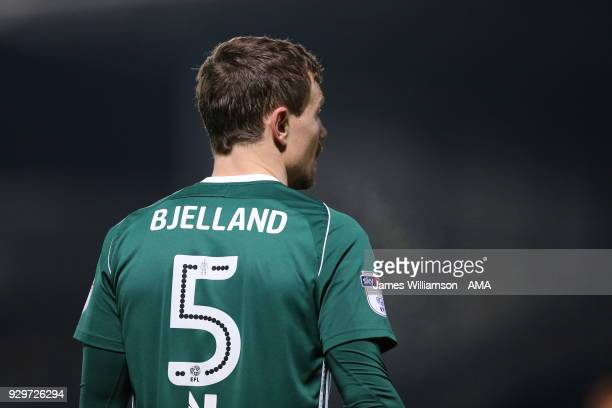 Andreas Bjelland of Brentford during the Sky Bet Championship match between Burton Albion and Brentford the at Pirelli Stadium on March 6 2018 in...