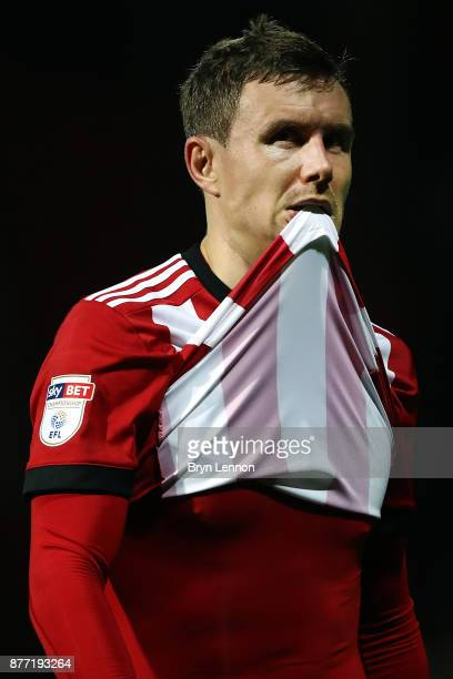 Andreas Bjelland of Brentford looks on after the Sky Bet Championship match between Brentford and Burton Albion at Griffin Park on November 21 2017...