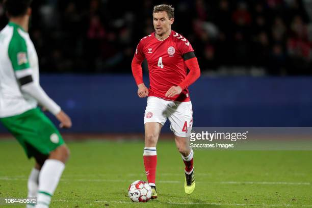 Andreas Bjelland of Denmark a during the UEFA Nations league match between Denmark v Republic of Ireland at the Ceres Park on November 19 2018 in...