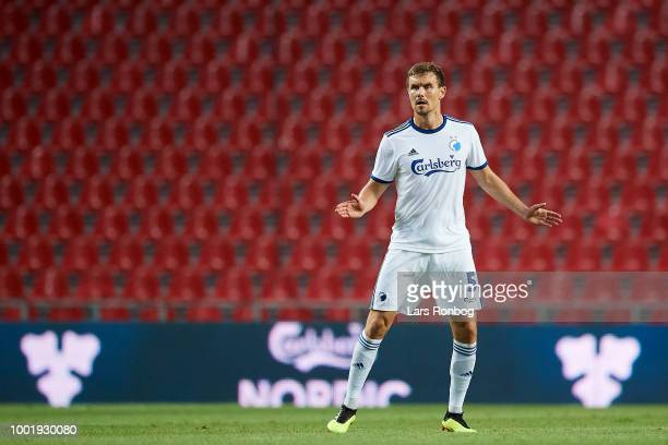 Andreas Bjelland of FC Copenhagen in action during the UEFA Europa League Qual match between FC Copenhagen and KuOPs Kuopion Palloseura at Telia...