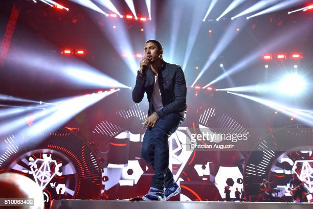 Andreas Bourani performs during the Global Citizen Festival at the Barclaycard Arena on July 6 2017 in Hamburg Germany