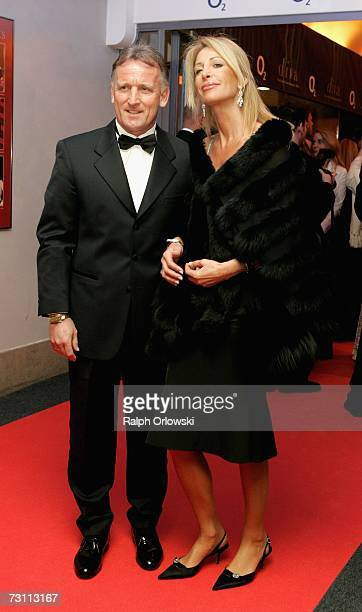 Andreas Brehme and his wife Pilar arrive at the Diva Awards 2007 on January 25 2007 in Munich Germany