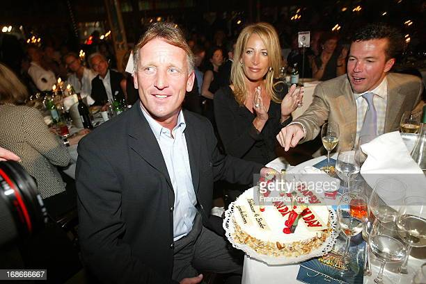 Andreas Brehme Celebrates his Birthday with Wife Pilar and Lothar Matthäus At The Premiere Of E Witzigmanns Palazzo Witzigmann In Munich