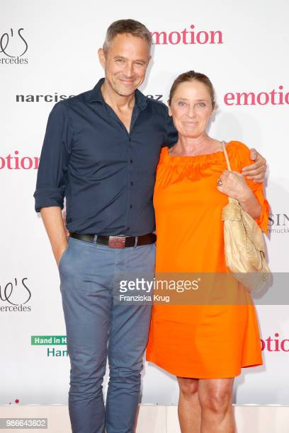 Andreas Brucker and Annett Heinrich attend the Emotion Award at Curiohaus on June 28 2018 in Hamburg Germany