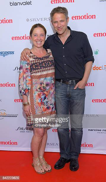 Andreas Brucker and Annette Heinrich attend the Emotion Award at Laeiszhalle on June 22 2016 in Hamburg Germany
