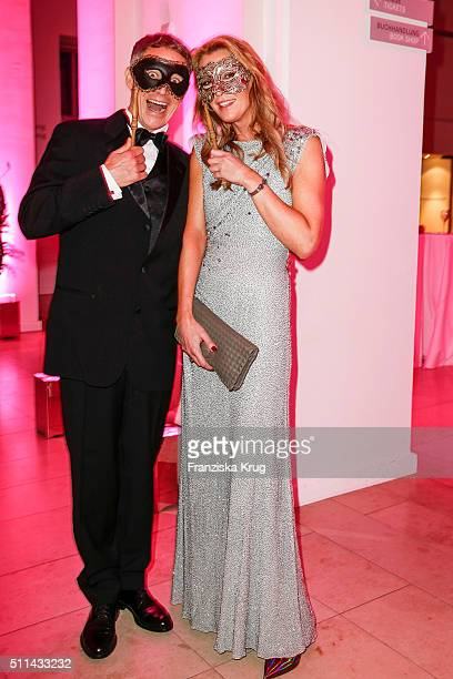 Andreas Brucker and Kirsten Roschlaub attend the Bal Masque 2016 on February 20 2016 in Hamburg Germany