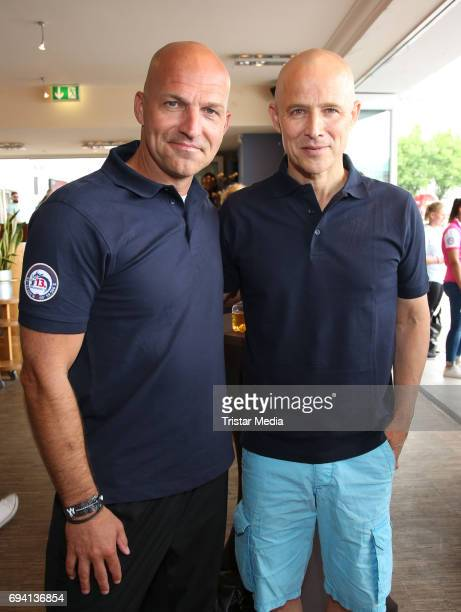 Andreas Brucker and Stefan Schnoor attend the Michael Stich Foundation Presents Dragon Boat Cup on June 9 2017 in Hamburg Germany