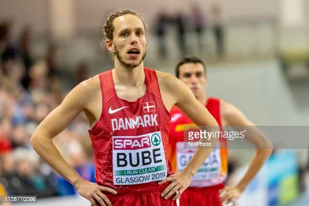 Andreas Bube competing in the 800m Men event during day ONE of the European Athletics Indoor Championships 2019 at Emirates Arena in Glasgow Scotland...
