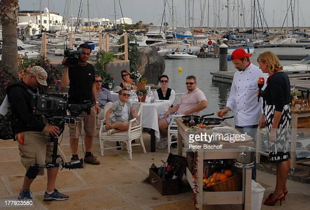 Andreas C Studer Andrea Kiwi Kiewel ZDFShow Die Frühlingsshow Marina Rubic—n Lanis Grill Playa Blanca Insel Lanzarote Kanarische Insel Kanaren...