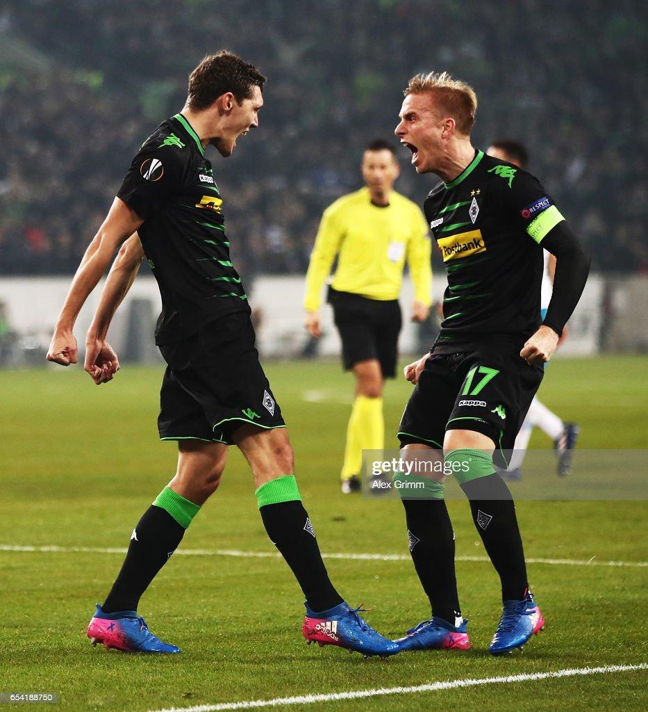 Borussia Moenchengladbach v FC Schalke 04 - UEFA Europa League Round of 16: Second Leg : News Photo