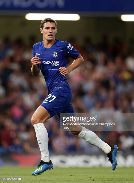 Andreas Christensen of Chelsea during the International Champions Cup 2018 match between Chelsea and Olympique Lyonnais at Stamford Bridge on August...