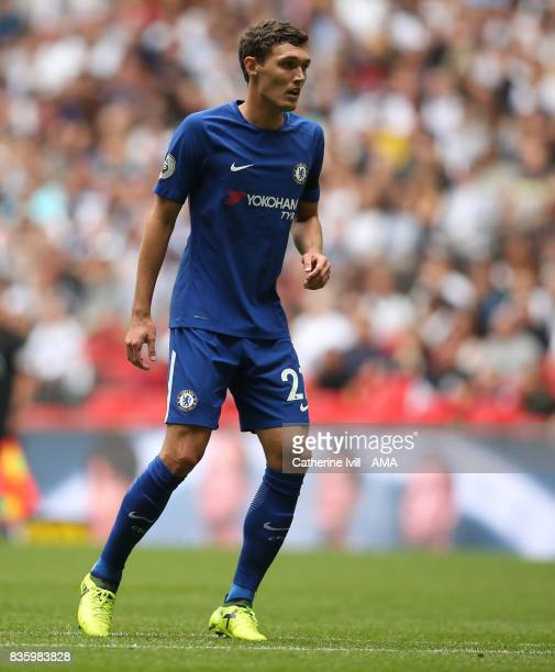Andreas Christensen of Chelsea during the Premier League match between Tottenham Hotspur and Chelsea at Wembley Stadium on August 20 2017 in London...