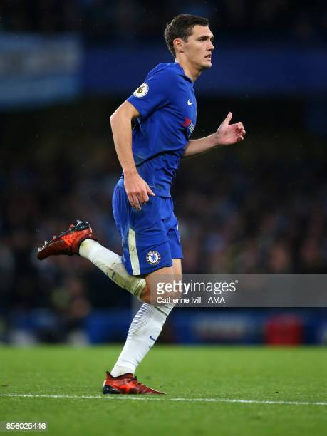 Andreas Christensen of Chelsea during the Premier League match between Chelsea and Manchester City at Stamford Bridge on September 30 2017 in London...