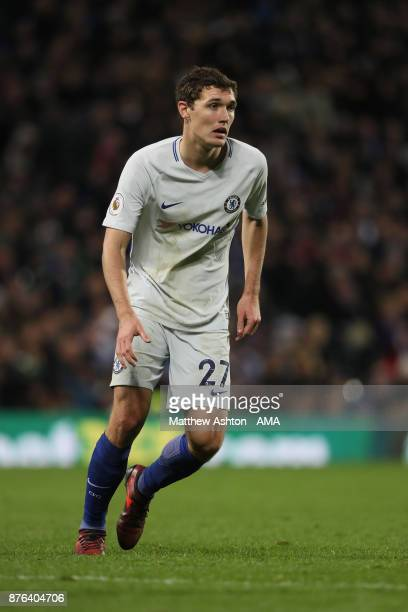 Andreas Christensen of Chelsea during the Premier League match between West Bromwich Albion and Chelsea at The Hawthorns on November 18 2017 in West...
