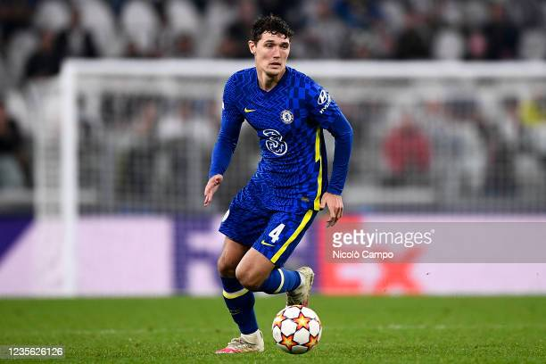 Andreas Christensen of Chelsea FC in action during the UEFA Champions League football match between Juventus FC and Chelsea FC. Juventus FC won 1-0...