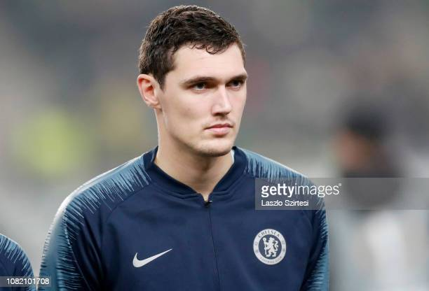Andreas Christensen of Chelsea FC waits for the kickoff prior to the UEFA Europa League Group Stage Match between Vidi FC and Chelsea FC at...