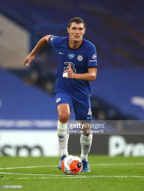 Andreas Christensen of Chelsea in action during the Premier League match between Chelsea FC and Watford FC at Stamford Bridge on July 04 2020 in...