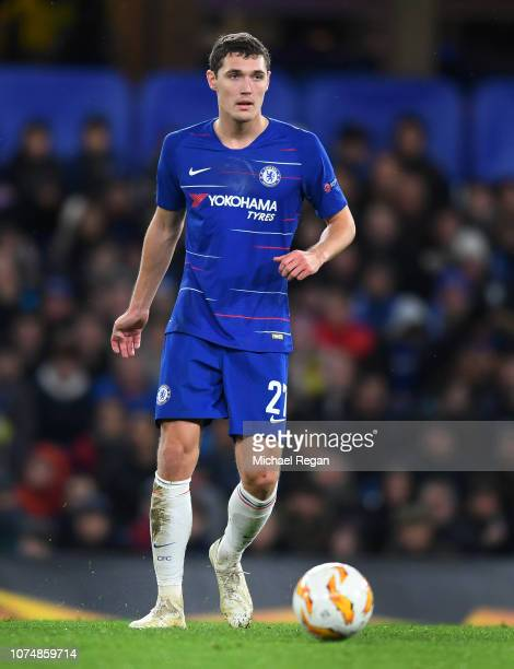 Andreas Christensen of Chelsea in action during the UEFA Europa League Group L match between Chelsea and PAOK at Stamford Bridge on November 29 2018...