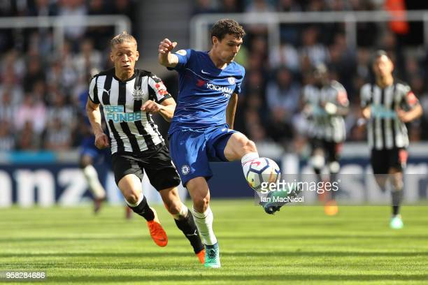 Andreas Christensen of Chelsea is seen during the Premier League match between Newcastle United and Chelsea at St James Park on May 13 2018 in...