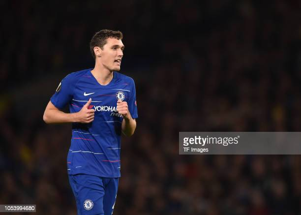 Andreas Christensen of Chelsea looks on during the UEFA Europa League Group L match between Chelsea and Vidi FC at Stamford Bridge on October 4 2018...