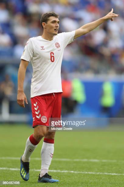 Andreas Christensen of Denmark during the 2018 FIFA World Cup Russia group C match between Denmark and Australia at Samara Arena on June 21 2018 in...