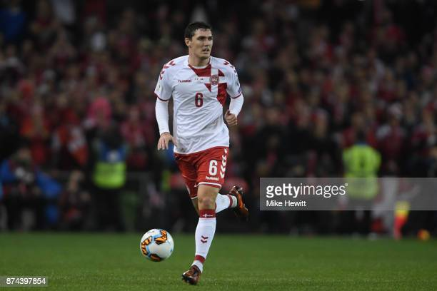 Andreas Christensen of Denmark in action during the FIFA 2018 World Cup Qualifier PlayOff Second Leg between Republic of Ireland and Denmark at Aviva...