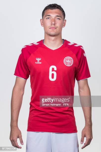 Andreas Christensen of Denmark poses during official FIFA World Cup 2018 portrait session on June 12 2018 in Anapa Russia