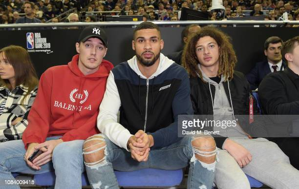 Andreas Christensen Ruben LoftusCheek and Ethan Ampadu attend the NBA London Game 2019 between the Washington Wizards and New York Knicks at The O2...