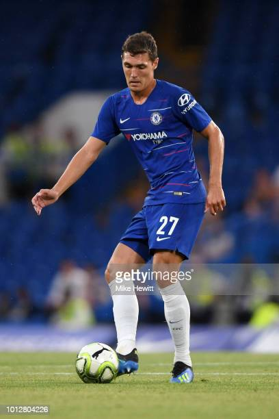 Andreas Christiansen of Chelsea in action during the preseason friendly match between Chelsea and Lyon at Stamford Bridge on August 7 2018 in London...