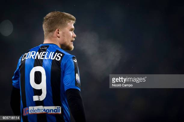 Andreas Cornelius of Atalanta BC looks on during the TIM Cup football match between Juventus FC and Atalanta BC Juventus FC won 10 over Atalanta BC