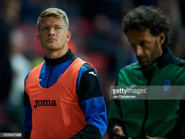 Andreas Cornelius of Atalanta BC prior to the UEFA Europa League Qualification match between FC Copenhagen and Atalanta BC at Telia Parken Stadium on...