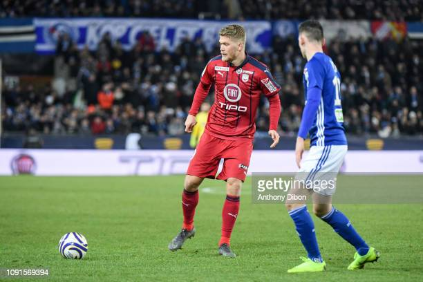 Andreas Cornelius of Bordeaux during the League Cup match between Strasbourg and Bordeaux at La Meinau Stadium on January 30 2019 in Strasbourg France
