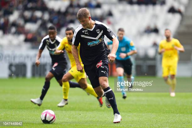 Andreas Cornelius of Bordeaux during the Ligue 1 match between Bordeaux and Nantes at Stade Matmut Atlantique on October 7 2018 in Bordeaux France