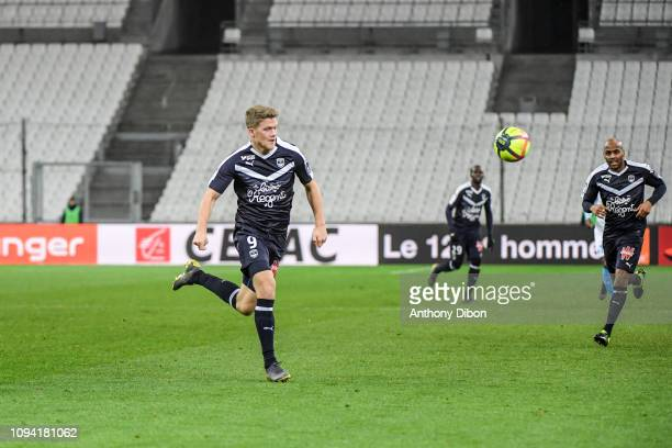 Andreas Cornelius of Bordeaux during the Ligue 1 match between Marseille and Bordeaux at Stade Velodrome on February 5 2019 in Marseille France