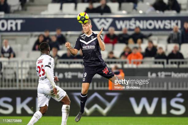 Andreas Cornelius of Bordeaux during the Ligue 1 match between Bordeaux and Guingamp at Stade Matmut Atlantique on February 20 2019 in Bordeaux France