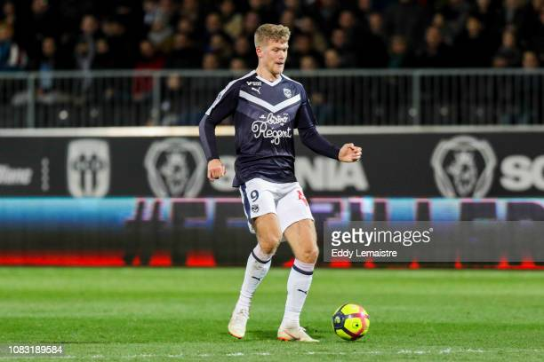 Andreas Cornelius of Bordeaux during the Ligue 1 match between Angers and Bordeaux at Stade Jean Bouin on January 15 2019 in Angers France