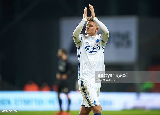 Andreas Cornelius of FC Copenhagen leave the pitch during the Danish Alka Superliga match between FC Copenhagen and Randers FC at Telia Parken...