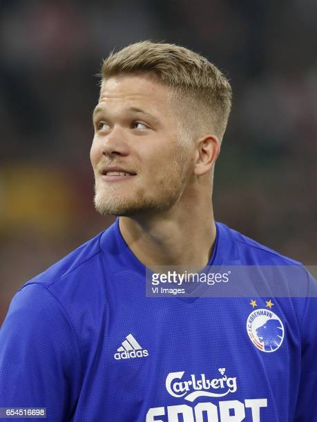 Andreas Cornelius of FC Copenhagenduring the UEFA Europa League round of 32 match between Ajax Amsterdam and FC Copenhagen at the Amsterdam Arena on...