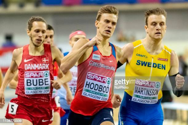 Andreas DEN HODBOD Luk and MARTINSSON Erik competing in the 800m Men event during day ONE of the European Athletics Indoor Championships 2019 at...