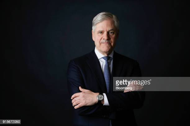 Andreas Dombret board member of Deutsche Bundesbank poses for a photograph following a Bloomberg Television interview in London UK on Thursday Feb 8...