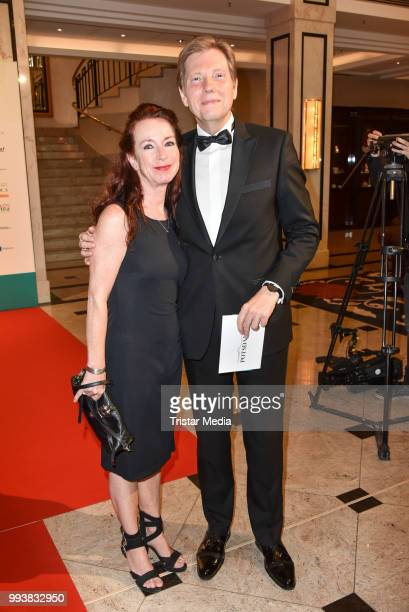 Andreas Dorfmann and his wife Dorit Werner during the Aline Reimer Foundation Gala on July 7 2018 in Berlin Germany