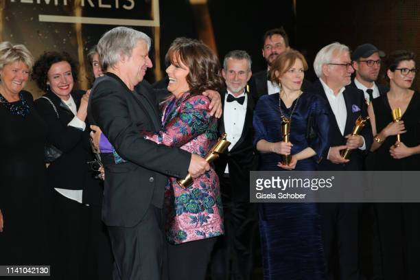 Andreas Dresen and Caroline Link during the Lola - German Film Award final applause at Palais am Funkturm on May 3, 2019 in Berlin, Germany.