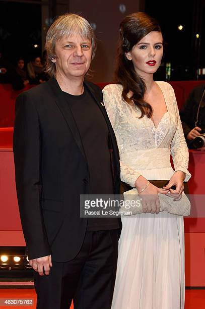 Andreas Dresen and Ruby O. Fee attend the 'As We Were Dreaming' premiere during the 65th Berlinale International Film Festival at Berlinale Palace on...