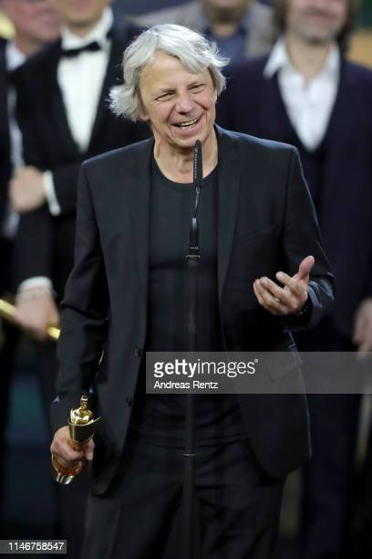 Andreas Dresen, winner of best directing, poses during the Lola - German Film Award show at Palais am Funkturm on May 03, 2019 in Berlin, Germany.