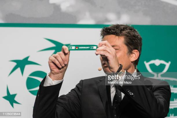 Andreas Egli picks out Germany during the draw ceremony of the Davis Cup finals