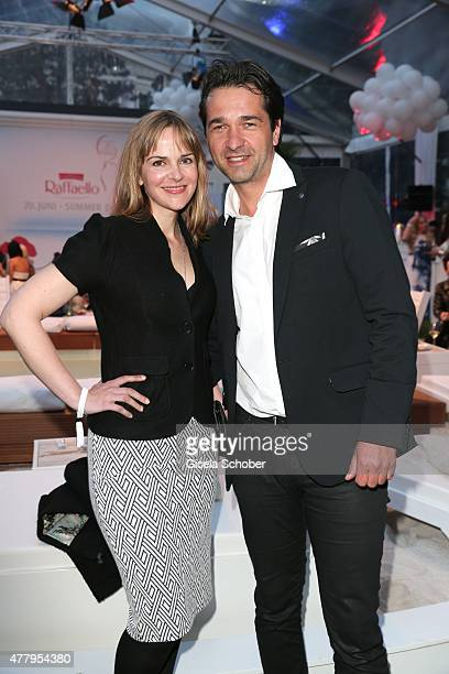 Andreas Elsholz and his wife Denise Zich during the Raffaello Summer Day 2015 to celebrate the 25th anniversary of Raffaello on June 20 2015 in...