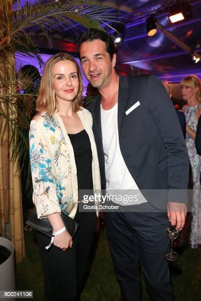 Andreas Elsholz and his wife Denise Zich during the Raffaello Summer Day 2017 to celebrate the 27th anniversary of Raffaello at 'Koenigliche...