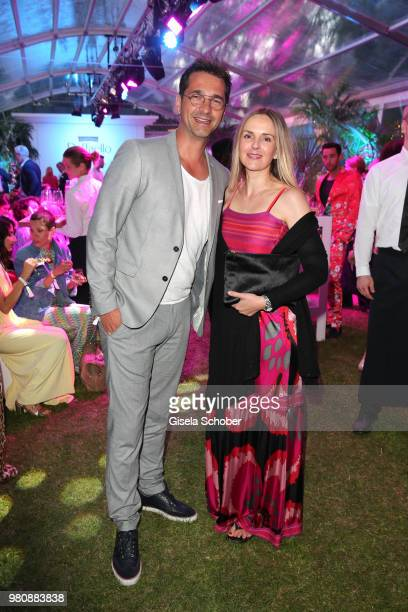 Andreas Elsholz and his wife Denise Zich during the Raffaello Summer Day 2018 to celebrate the 28th anniversary of Raffaello on June 21 2018 in...