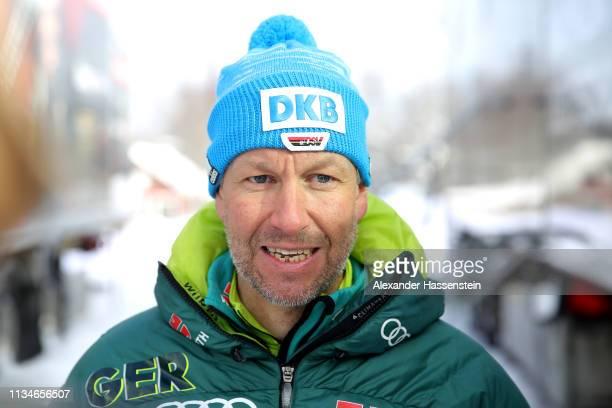 Andreas Emslander of Team Germany at the IBU Biathlon World Championships at Swedish National Biathlon Arena on March 09 2019 in Ostersund Sweden