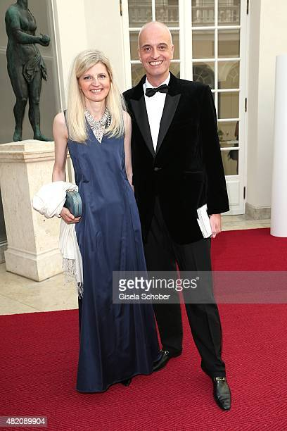 Andreas Englert and guest during the 'Die Goldene Deutschland' Gala on July 26 2015 at Cuvillies Theater in Munich Germany